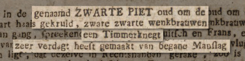 Zwarte Piet 1787