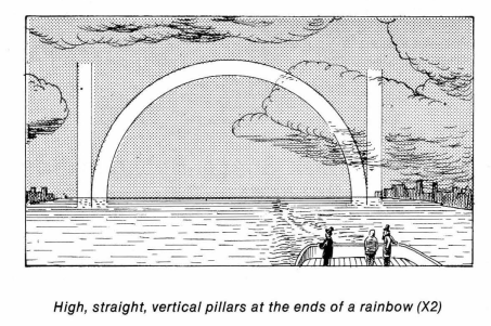 Rainbow pillars