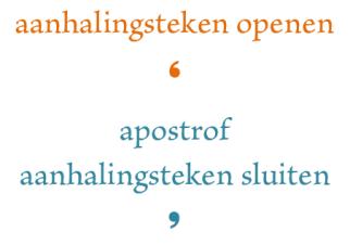 Apostrof aanhalingsteken3